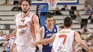 Pau Gasol (Spain / left), Juan Carlos Navarro (Spain / right)